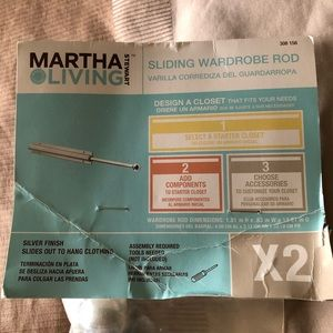 New. Martha Stewart Living sliding wardrobe rod